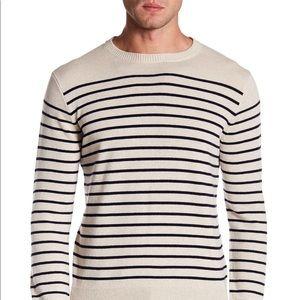 J. Crew Men's Cashmere Stripe Crew Neck Sweater XL